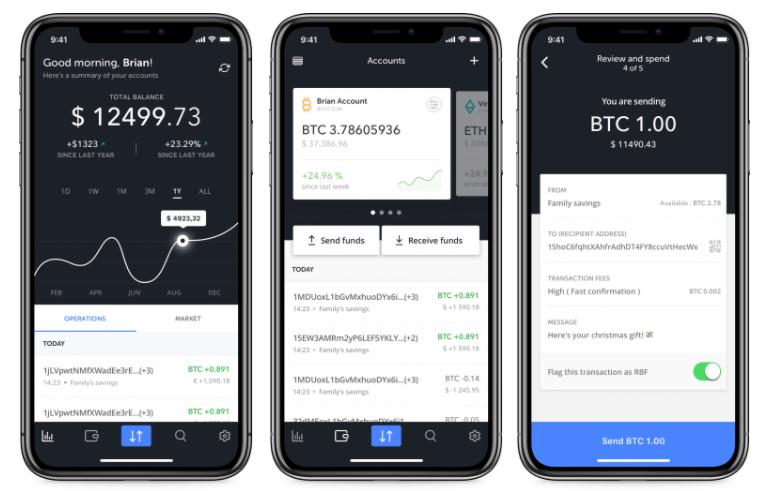 Ledger Wallet mobile GUI