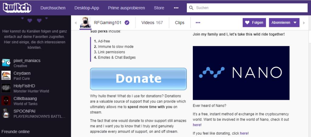 Twitch Nano spenden