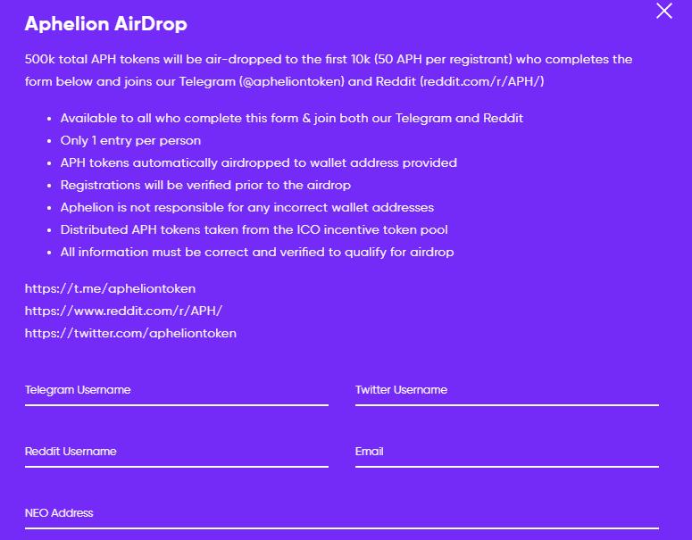 aphelion airdrop