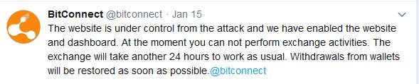 Bitconnect DDoS