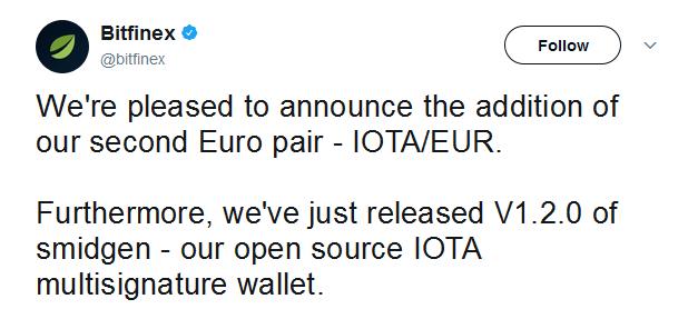 Bitfinex Iota