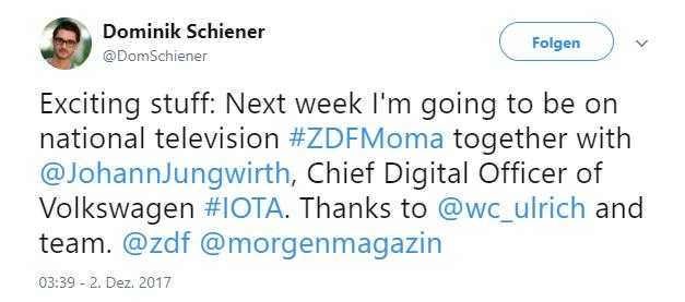 IOTA Dominik Schiener ZDF