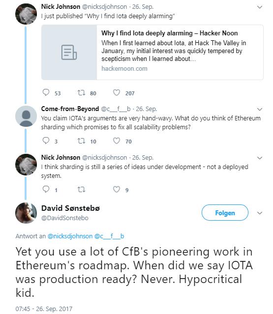 IOTA vs. Ethereum