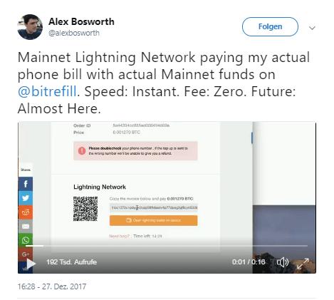 Bitcoin Lightning Test