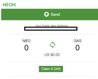 NEO claim GAS