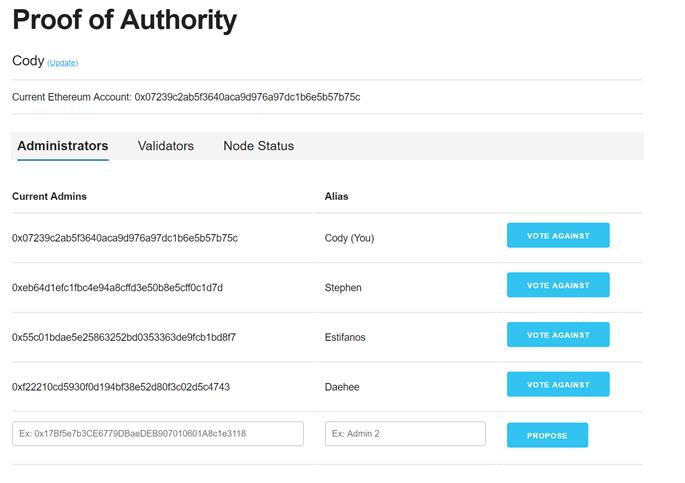 proof of authority Ethereum