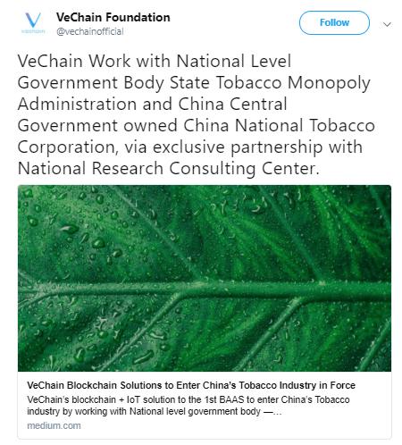 VeChain Partnerschaft