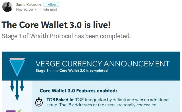 Verge Wallet