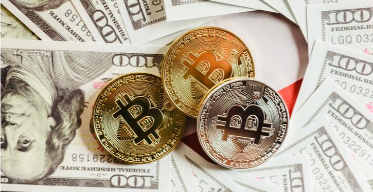 Bild von Bitcoin und US Dollar